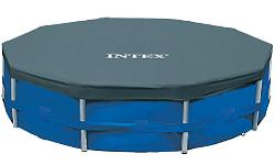 Intex 28030 Cobertor piscina metálica Metal & Prisma Frame 305 cm