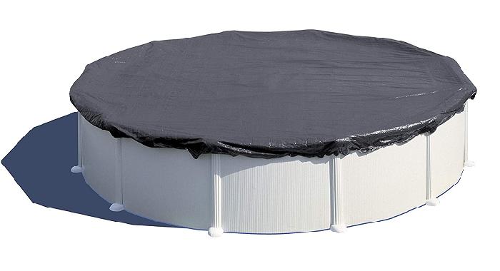 Gre CIPR301 - Cobertor de Invierno para Piscina Redonda de 300 cm de Diámetro, Color Negro