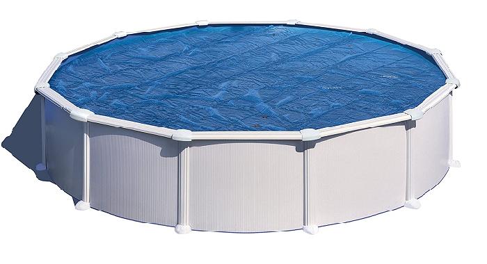 Gre CPR550 - Cobertor de Verano para Piscina Redonda de 550 cm de Diámetro, Color Azul